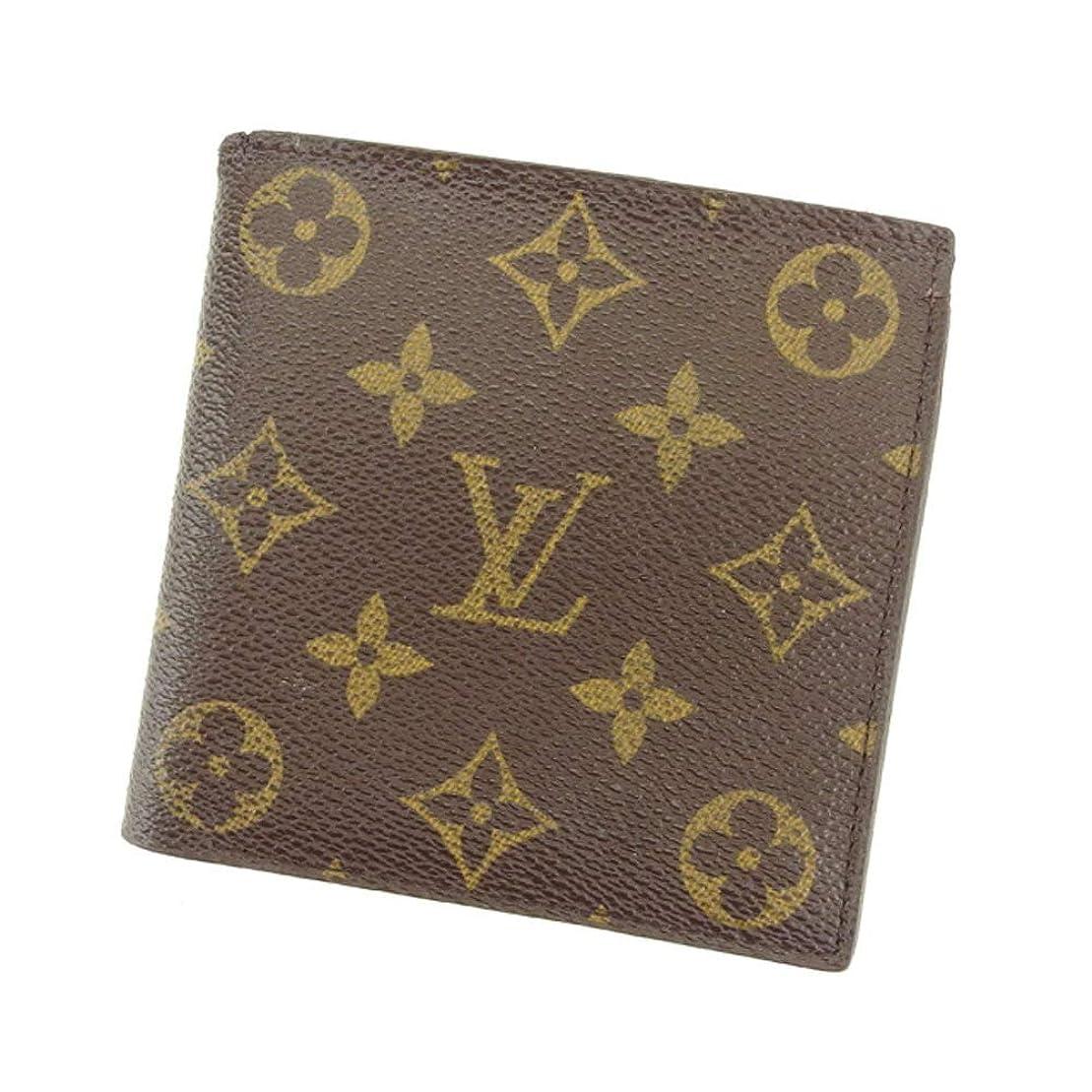 コート集団正確な(ルイ ヴィトン) Louis Vuitton 二つ折り 財布 廃盤レア ブラウン ベージュ モノグラム レディース メンズ 中古 T8193