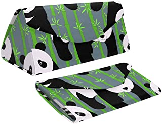 InterestPrint Cute Panda Bamboo Collapsible Triangle Case for Sunglasses Goggles Reading Frame