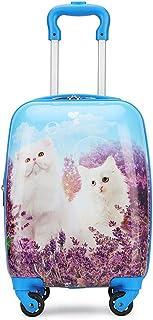 YCYHMYF Cute Cat Hard Shell Children Travel Trolley Luggage Suitcase 16 Inch