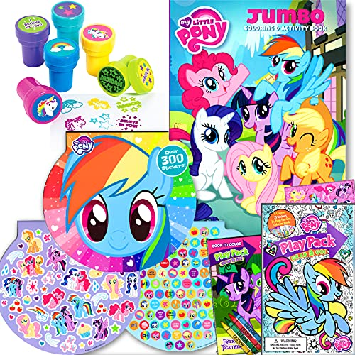 My Little Pony Coloring Activity Book with Take and Play Set and Stampers