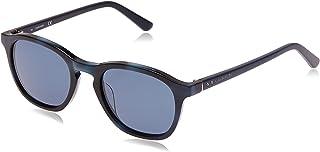 Calvin Klein Round Heritage Amber Havana Sunglasses