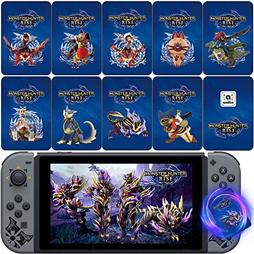 NFC Cards for Monster Hunter Rise Stories Series,Palamute,Palico,Magnamalo Compatible with Switch/Switch Lite/Wii U/New 3DS,9Pcs
