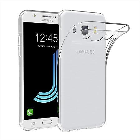 AICEK Coque Samsung Galaxy J5 2016, Etui Silicone Gel Samsung Galaxy J5 2016 (J510FN) Housse Antichoc Samsung J5 Transparente Souple Coque de ...