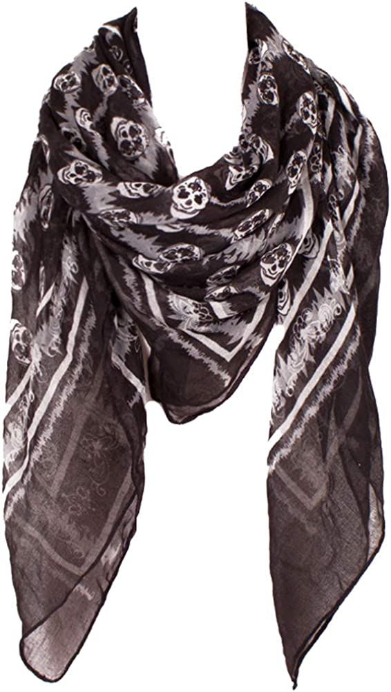 Fashion Square Scarfs For Women Lightweight Print Polyester Scarfs