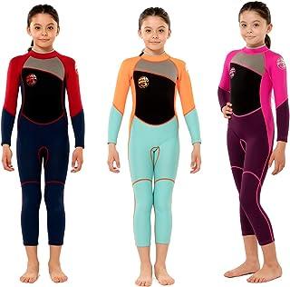 Scubadonkey 2.5mm Neoprene Full Wetsuit for Kids Girls |...
