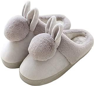 [HRFEER] ルームシューズ レディース スリッパ ウサギ 裏ファー もこもこ ふわふわ あったか 秋冬用 防寒 厚底 可愛い 洗える 滑り止め