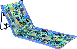 Leader Accessories Deluxe Portable Folding Reclining Lounger Beach Chair - Perfect for Beach and Camping (Model D:Sporting Blue W/O Armrest)