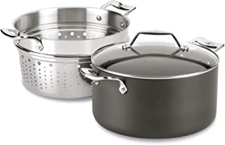 All-Clad H911S374 Essentials Nonstick Multipot with insert, 7 Qt, Grey