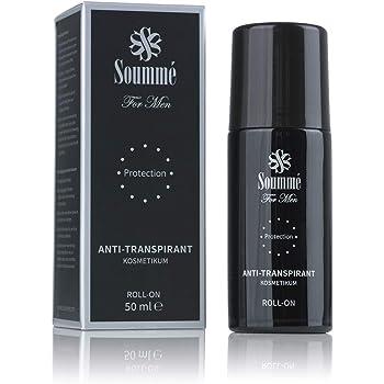 Soummé Antitranspirant Protection Roll-On for Men Kosmetikum   50 ml   Schützt vor Schweiß- und Geruchsbildung, Dermatologisch getestet