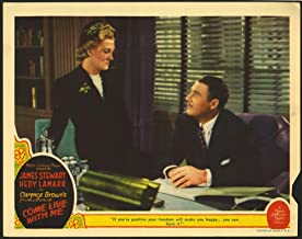 Come Live With Me (1941) Original U.S. Scene Lobby Card 11x14 Good Condition VERREE TEASDALE IAN HUNTER Film directed by CLARENCE BROWN
