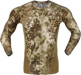 Aurun Men's Short Sleeve Military Tactical Shirt Outdoor Assault Camouflage T-Shirt