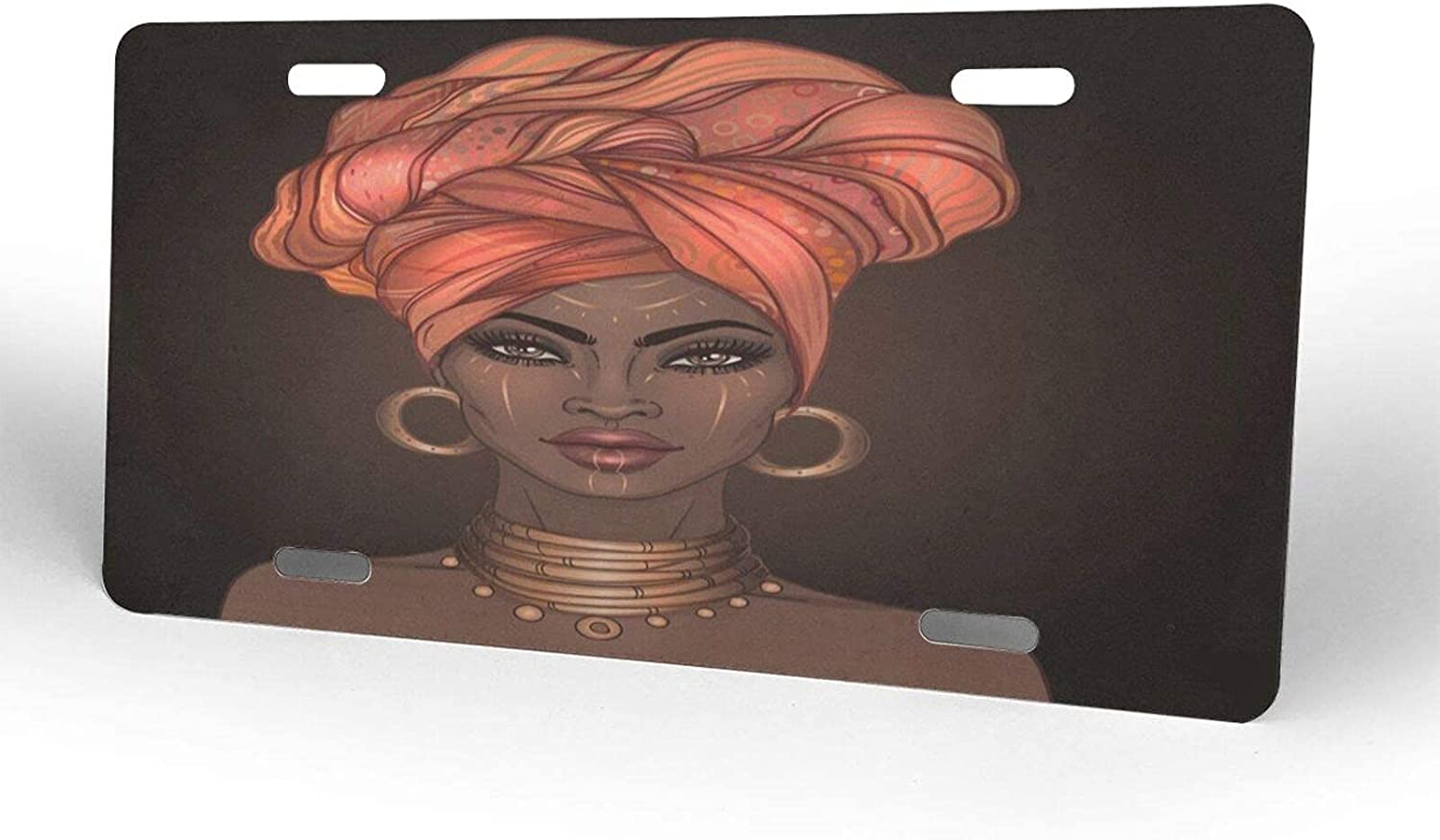 African Afro Women License Plate Pla Superlatite Novelty Cover NEW before selling Metal