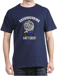 Funny Rockhounding Ain't Easy Dark Cotton T-Shirt