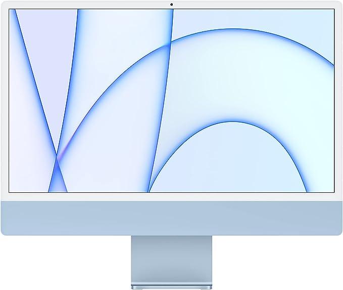2021 Apple iMac (24-inch, Apple M1 chip with 8‑core CPU and 7‑core GPU, 8GB RAM, 256GB) - Blue | Amazon
