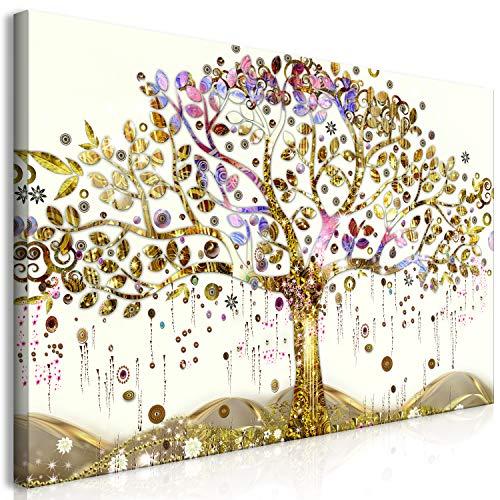 murando Tableau Mega XXXL Arbre Gustav Klimt 160x80 cm Impression sur Toile Tableaux Unique en Format XXXL à l'automontage Facile Image Graphique Grande Photo Décoration DIY Abstrait l-A-0009-ak-e