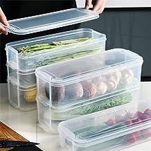 منظم الثلاجة، حاوية تخزين الطعام، الخطوط الخارجية 6 لتر 3 طوابق يمكن تكديسها ومنظم ادراج الثلاجة، حاوية للتخزين، مقاومة لل...