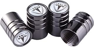 ddf339b604f12 TK-KLZ 4Pcs Chrome Car Tire Valve Stem Caps for Tesla Roadster Model S Model