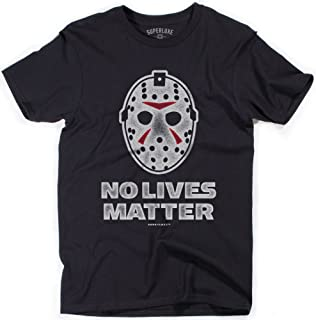 No Lives Matter Mens Funny 2019 Halloween Ski Mask Horror Movie Costume T-Shirt