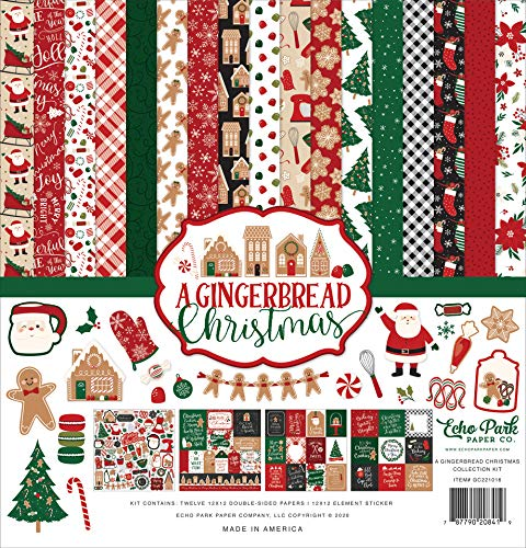 Echo Park Paper Company A Gingerbread Christmas Collection Kit Paper