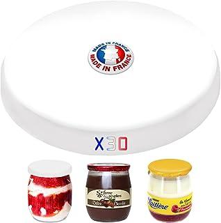 SPECIAL-DAY Lot de 30 couvercles hermétique pour les pots de yaourt sans BPA - Pack économique - Fabriqué en France