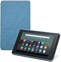 """Fire 7 Tablet (7"""" display, 32 GB) - Blue + Amazon Standing Case (Twilight Blue)"""