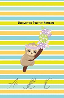 Handwriting Practice Notebook: -Journal Composition Notebook with Blank Lined Writing Letters & Words Sheet for Preschool ...