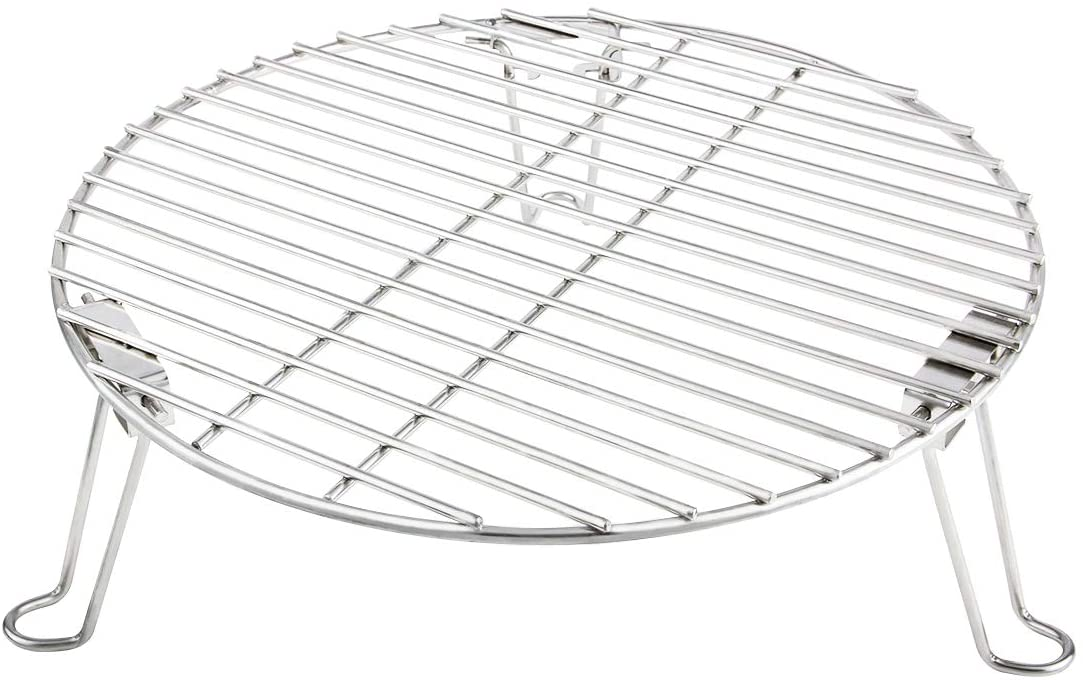 """Mydracas Grill Expander Rack Stack Rack Expansion Grilling Rack Stainless Steel Fit Large & XL Big Green Egg Weber Kettle 22 Inches Charcoal Grill Kamado Joe, 18"""" or Bigger Diameter Grill : Garden & Outdoor"""