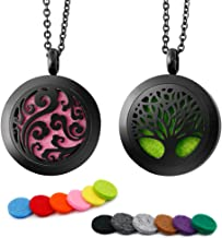 RoyAroma 2PCS Aromatherapy Essential Oil Diffuser Necklace Pendant Locket Jewelry, 24