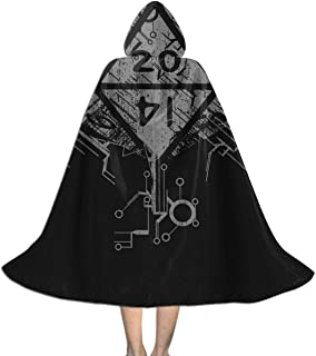 GinCrisis Fantasy D20 Dice Kids Cape Cloak with Hood Unisex Cloak Cape for Halloween Christmas Party Cosplay Costumes