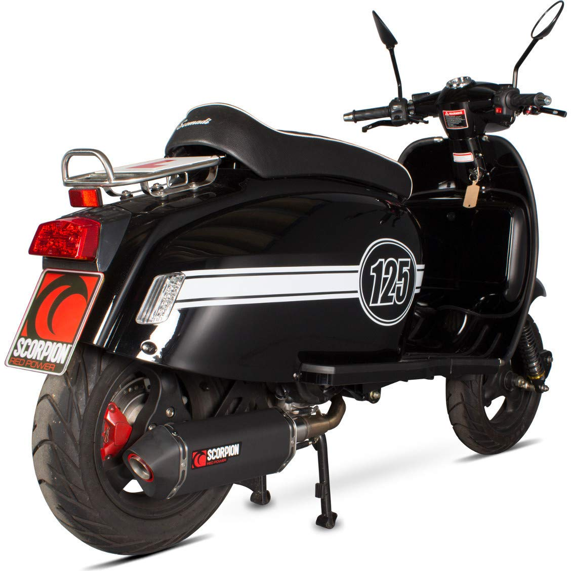 Scomadi TL125 Serket Full System Black Ceramic Coated Exhaust sleeve