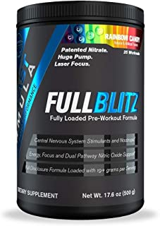 FULLBLITZ by BFF Build Fast Formula | Fully Loaded Pre-Workout | Energy Booster + Huge Dual Pathway Nitric Oxide Boosting ...