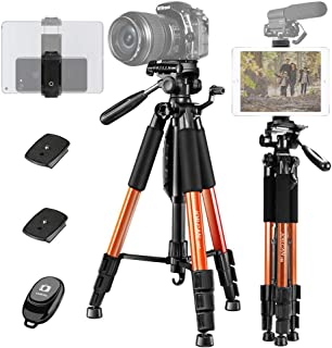 """JOILCAN 65""""Camera Tripod for Canon Nikon Lightweight Aluminum Travel DSLR Camera Stand 11 lbs Load with Universal Phone/Ta..."""