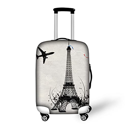 HUGS IDEA Eiffel Tower Print Luggage Protective Covers for 18
