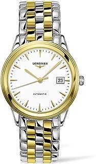 Longines Flagship White Matte Dial Automatic Men's Two Tone Watch L49743227