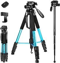 72-Inch Camera Tripod, Aluminum Tripod & Monopod Full...