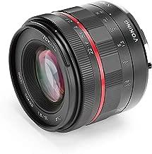Voking FE 50mm f/1.8 Large Aperture Manual Focus Lens for Sony Full Frame E-Mount Mirrorless Cameras A7III A9 NEX 3 NEX 3N NEX 5 NEX 5T NEX 5R NEX 6 7 A5000 A5100 A6000 A6100 A6300 A6500