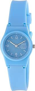 Q&Q Women'S Blue Dial Silicone Band Watch - Vp47J014Y
