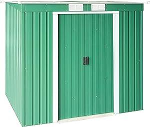 Tepro DuraMax Pent Roof Abri de jardin en métal avec toit Vert