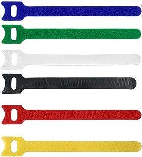 ケーブルタイ 50ピースT型ベルクロケーブルタイワイヤー再利用可能なコードオーガナイザーワイヤー15 * 1.2cmカラフルなコンピューターデータケーブル電源ケーブルタイストラップ 便利で耐久性のある技量 (Color : 50pcs white)