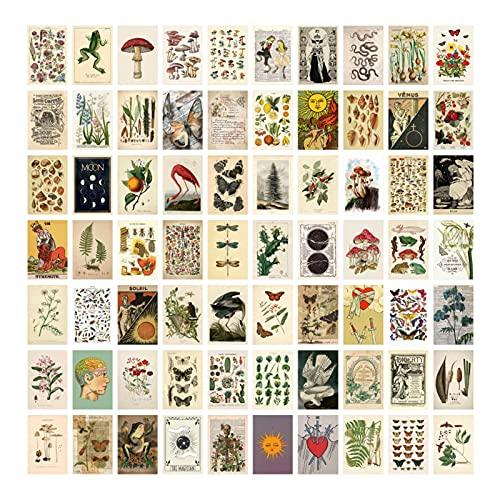 Morantsale 70 Stks Botanische Foto's Collage Kit voor Muur Esthetische Muur Collage Kit Planten Posters Collage…
