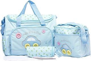 4PCS Waterproof Baby Diaper Nappy Bag Mummy Tote Handbag