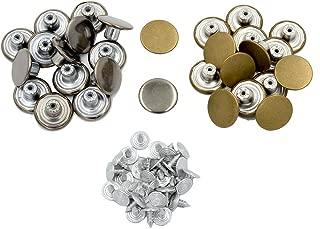DGOL 30 Pairs Metal Jeans Denim Jacket Rucksack Rivets Snap Fastener Buttons Gun Metal and Antique Brass Color