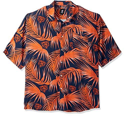 Chicago Bears NFL Mens Hawaiian Button Up Shirt - XL