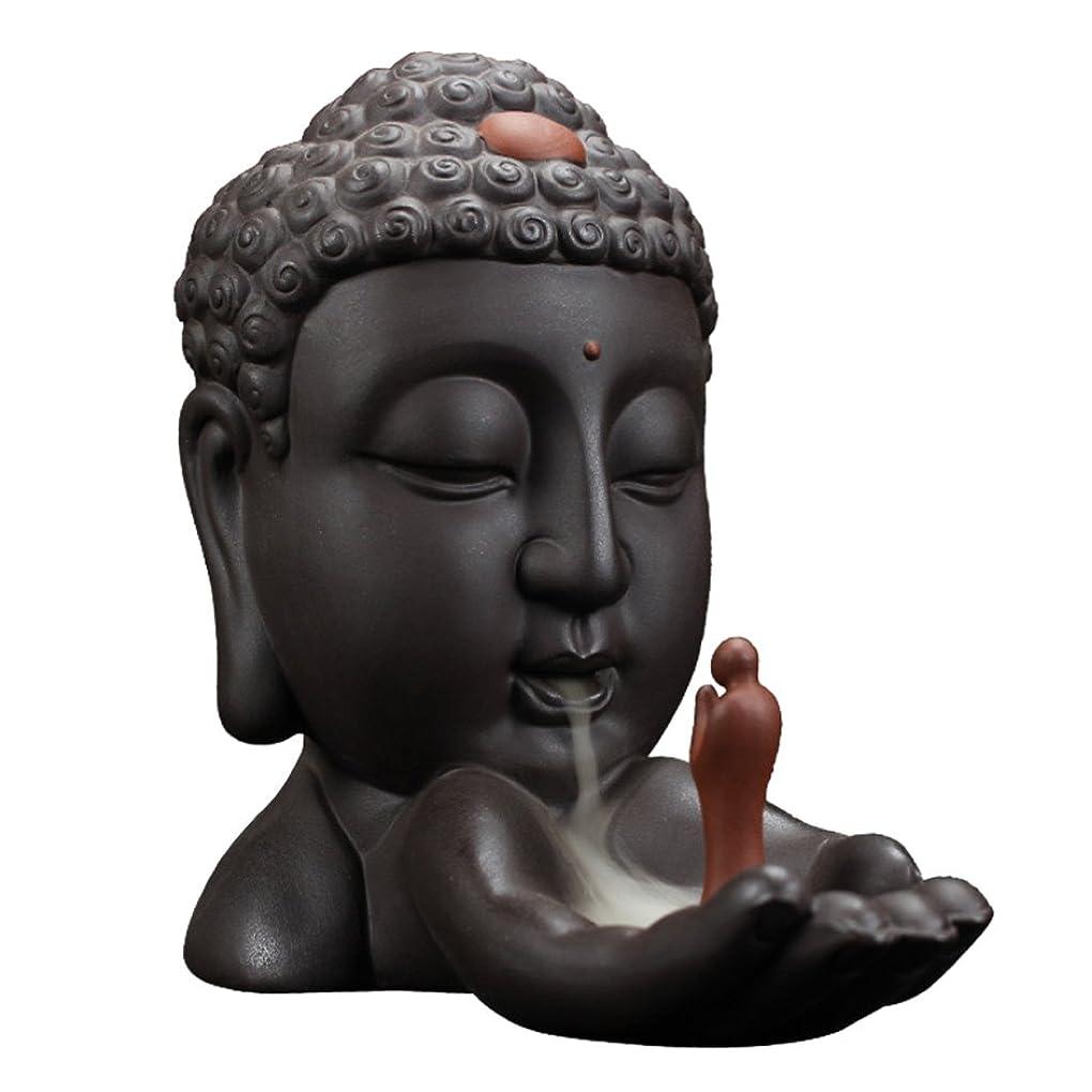 行為ギャップ自信があるHomyl 仏教 香のバーナー セラミック スティック コーン ホルダー 逆流 バーナー 香炉