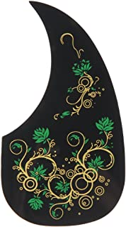 "ttnight Professional Hummingbird Acoustic Guitar Celluloid Pickguard Scratch Plate Pick Guards Replacement Self-adhesive fit for 41"" 40"" 39"" 38"" Guitar (Green)"