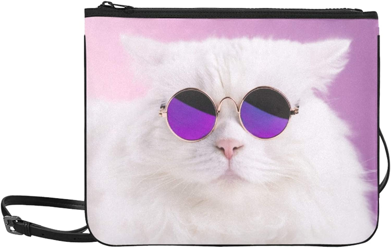 Purses And Max 86% OFF Handbags Crossbody Direct stock discount Cool S Glasses Wear Cat Adjustable