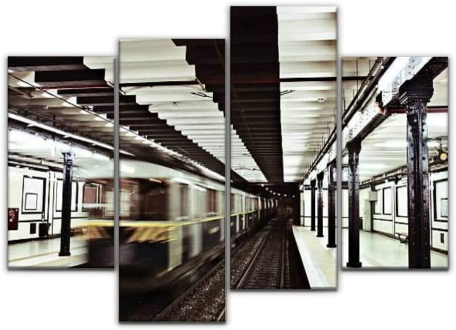 Sudoiseau Wall Art SALENEW very popular! Painting Max 65% OFF Subway and Buen Moving Station Train