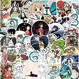 YUESEN Pack Pegatinas 100 Pcs Graffiti Stickers Vinals para Portátiles, Coche Motocicletas Automóviles Bicicletas Monopatines, Dhesivos de Anime para Niños