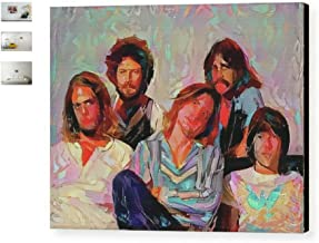 Framed Abstract The Eagles Rock Band 9X11 Art Print Limited Edition w/signed COA