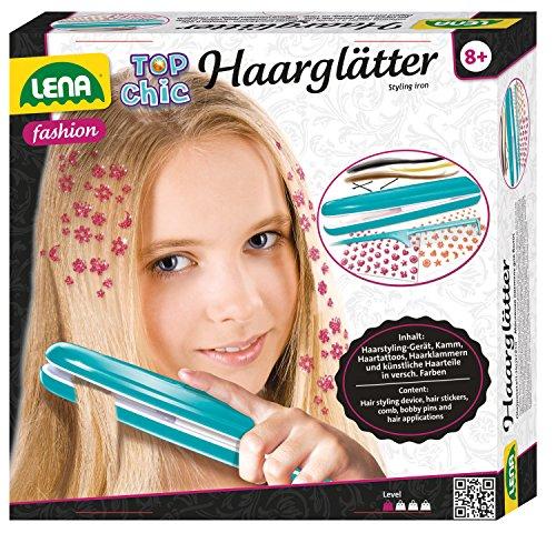 Lena 42537 Top Chic Haarglätter für Kinder mit viel Zubehör